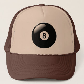 Eight Ball 8 Ball Pool Billiards Trucker's Hat