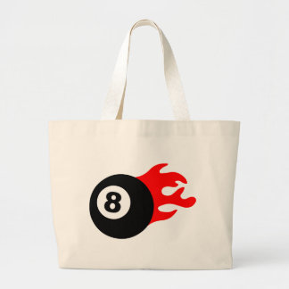 Eight Ball and Flames Canvas Bags