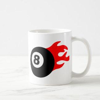 Eight Ball and Flames Coffee Mug