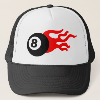 Eight Ball and Flames Trucker Hat
