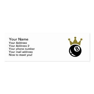 Eight ball billiards crown business card template