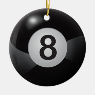 Eight Ball Christmas Ornament