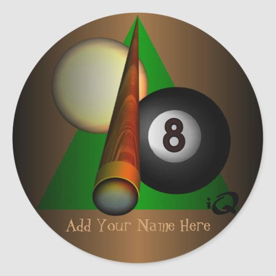 Eight Ball Classic Round Sticker