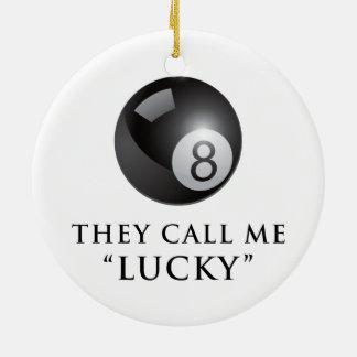 Eight ball christmas tree ornament