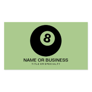eight ball icon pack of standard business cards