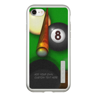 Eight Ball Pool and Billiards Personalized Incipio DualPro Shine iPhone 8/7 Case