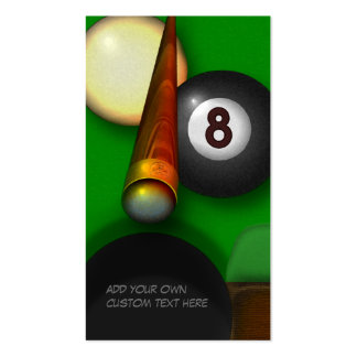 Eight Ball Pool and Billiards Personalized Pack Of Standard Business Cards