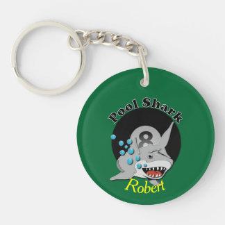 Eight Ball Pool Shark Key Ring