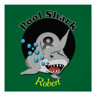 Eight Ball Pool Shark Perfect Poster