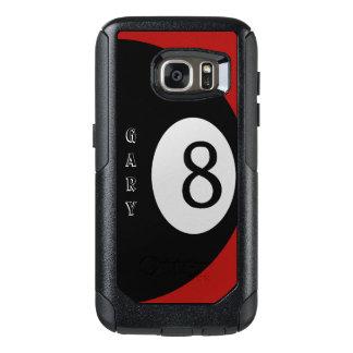 Eight Ball Red Billiard Felt Personal OtterBox Samsung Galaxy S7 Case