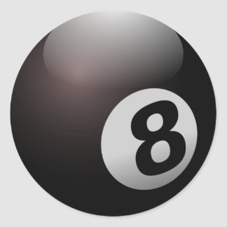 Eight Ball Round Sticker