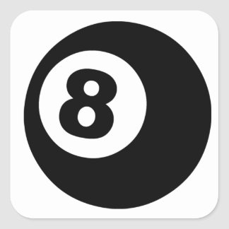 Eight Ball Square Sticker