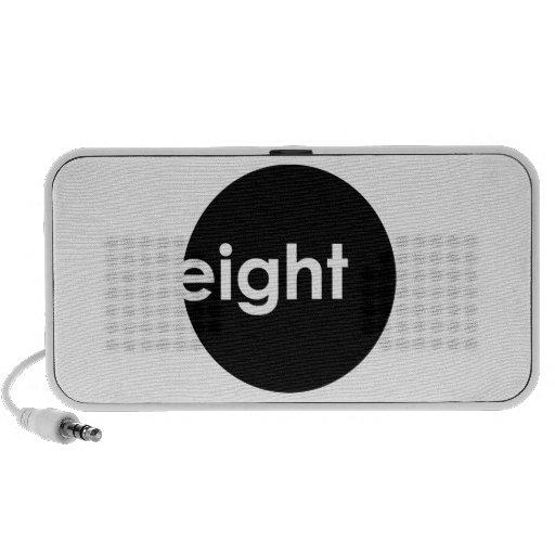 Eight Ball Text Doodle Speaker (dark)
