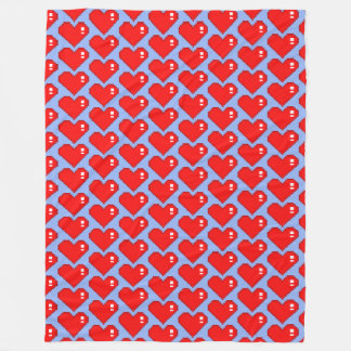 Eight Bit Heart TP Fleece Blanket