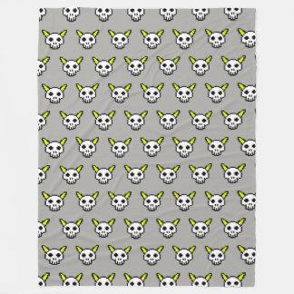 Eight Bit Horned Skull TP Fleece Blanket