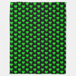 Eight Bit Slime Hearts TP Fleece Blanket