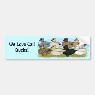 Eight Call Ducks Car Bumper Sticker