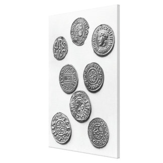 Eight Carolingian coins Stretched Canvas Prints