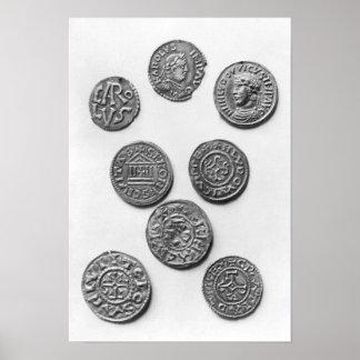Eight Carolingian coins Poster