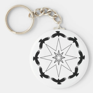 Eight Crow Star Key Ring