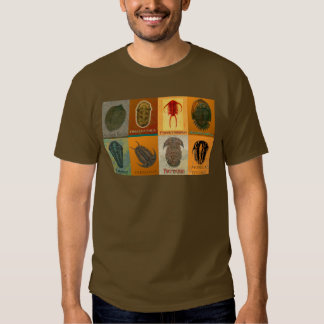 Eight Fossil Trilobites T-shirts
