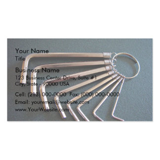 Eight hex/Allen keys arranged on table Pack Of Standard Business Cards