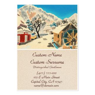 Eight Kyoto Snow Scenes, Kurama Road Eiichi Pack Of Chubby Business Cards
