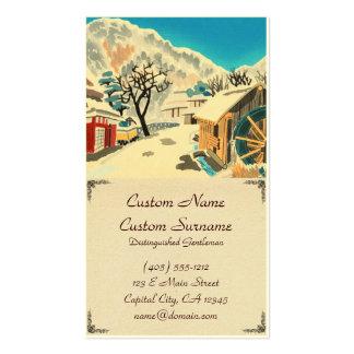 Eight Kyoto Snow Scenes, Kurama Road Eiichi Pack Of Standard Business Cards
