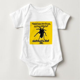 Eight Legs, Two Fangs and Attitude Baby Bodysuit