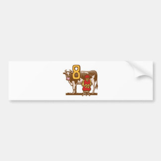 Eight Maids a-Milking Bumper Stickers