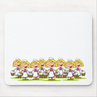 Eight Maids a-Milking Mouse Mat