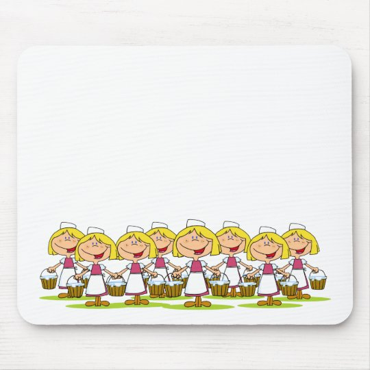 Eight Maids a-Milking Mouse Pad