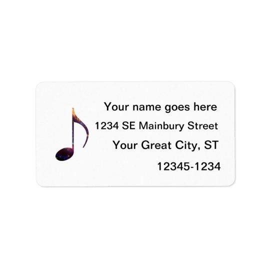 eight note nebula 1 address label