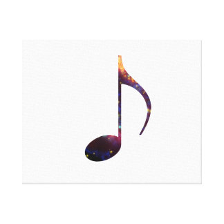 eight note nebula 1 stretched canvas print