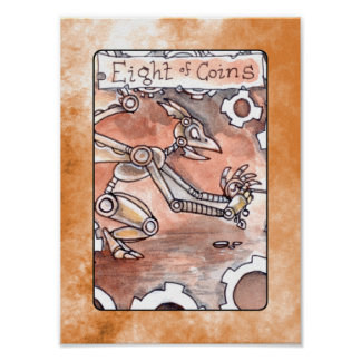 Eight of Coins Poster