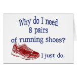 Eight Pairs Running Shoes Greeting Card