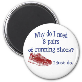 Eight Pairs Running Shoes Magnet