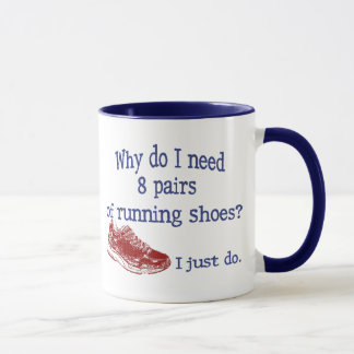 Eight Pairs Running Shoes Mug