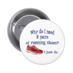 Eight Pairs Running Shoes Pinback Button