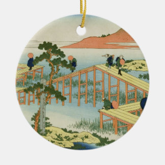 Eight part bridge, province of Mucawa, Japan, c.18 Christmas Ornament
