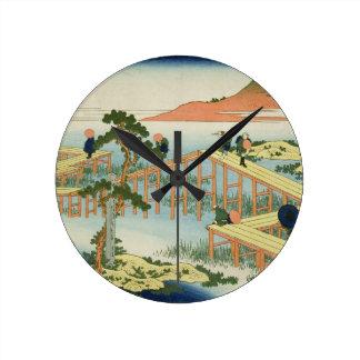 Eight part bridge, province of Mucawa, Japan, c.18 Round Clock