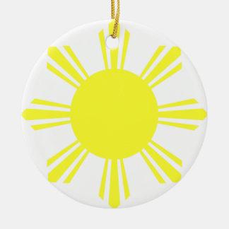 Eight Ray Sun Round Ceramic Decoration