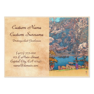 Eight Scenes of Cherry Blossoms, Arashiyama Pack Of Chubby Business Cards
