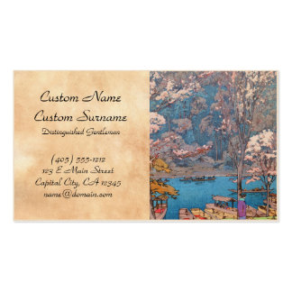 Eight Scenes of Cherry Blossoms, Arashiyama Pack Of Standard Business Cards