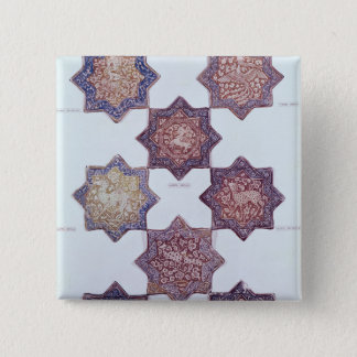 Eight tiles decorated with animals 15 cm square badge