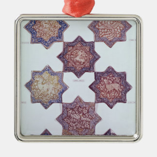 Eight tiles decorated with animals christmas ornament