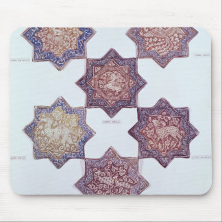 Eight tiles decorated with animals mouse mat