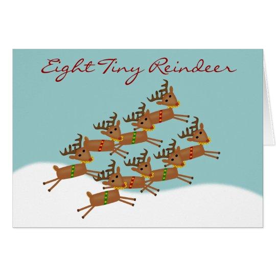 Eight Tiny Reindeer Christmas Card
