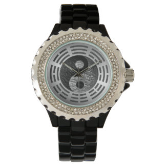 Eight Trigrams Yin Yang Embossed Dragon Watch