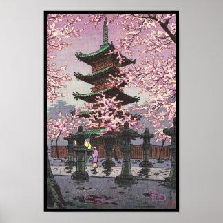 Eight Views Of Tokyo Ueno Toshogu Shrine Kasamatsu Poster